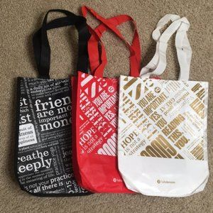 lululemon Graphic Print Small Reusable Bags - Red